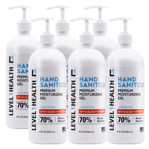 32 oz Level 1 Hand Sanitizer with Pump - 6 Pack