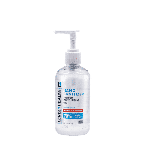 8 oz gel unscented hand sanitizer with pump