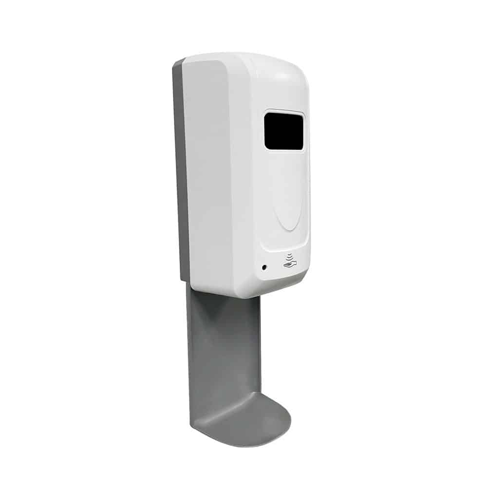 Hand Sanitizer Wall Mount Dispenser on White - Side View